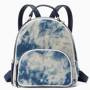 Kate Spade Jackson Tye-Dye Denim Medium Bagpack